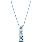 Tiffany & Co Paloma Picasso XOX Sterling Silver Diamond Necklace
