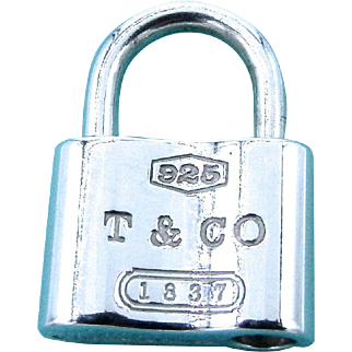Tiffany & Co Sterling Silver Padlock - 1837 Collection Charm Pendant Lock