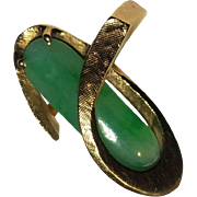Gorgeous Large 14k Apple Green Jade Ring