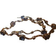 14k Sapphire & Diamond Bracelet