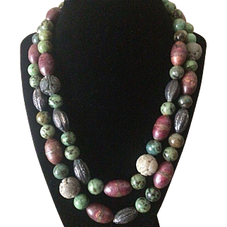 Renowned Designer Alice Kuo Double Strand Necklace