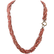 102 Grams 14k Angel Skin Coral Necklace