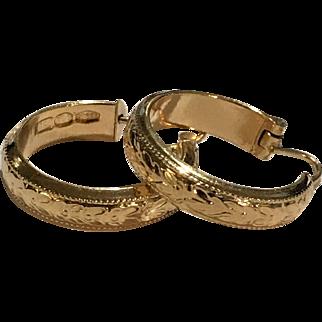 Simply Elegant 18k Yellow Gold Hoop Earrings