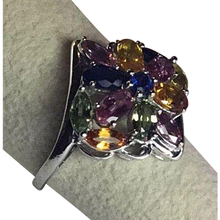 10k Topaz Cocktail Ring
