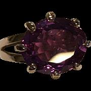 6 Carat 15k Sapphire  Pink-Purple Ring