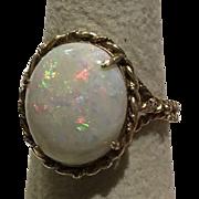 14k Fiery Opal Ring