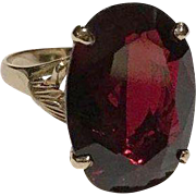 14k Captivating 15 Carat Red Ruby Lab Created Ring