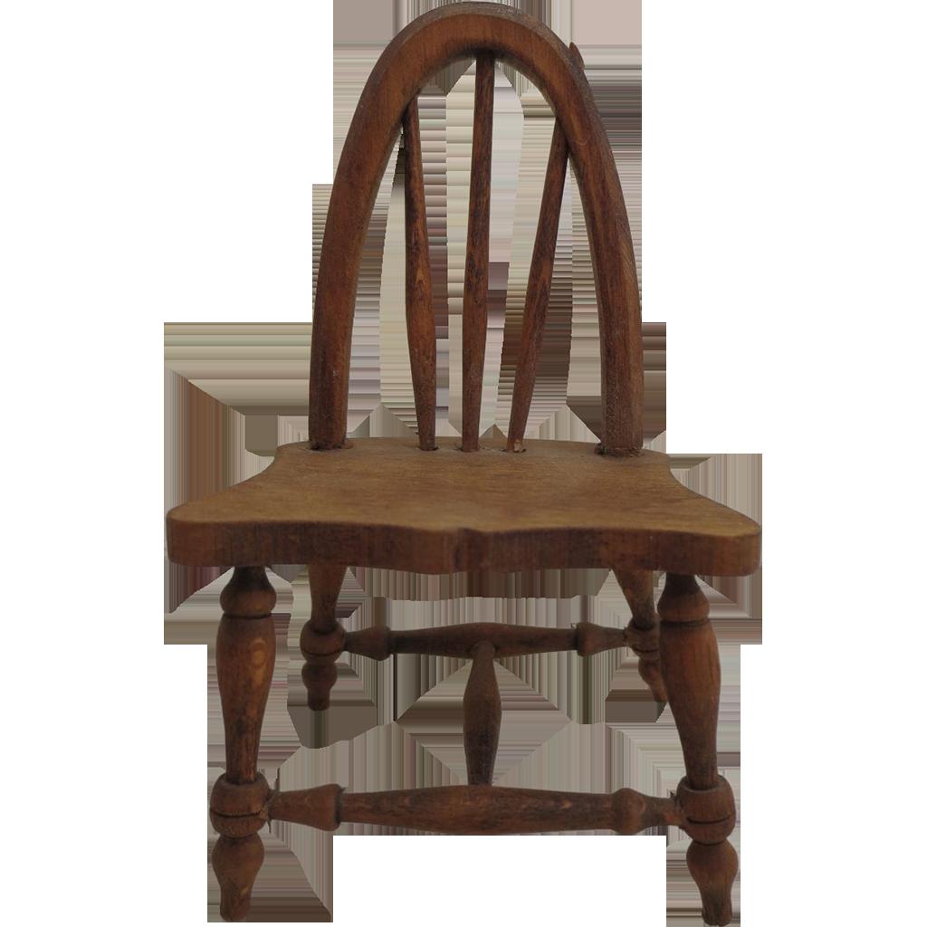 Vintage Handmade Wooden Miniature Chair