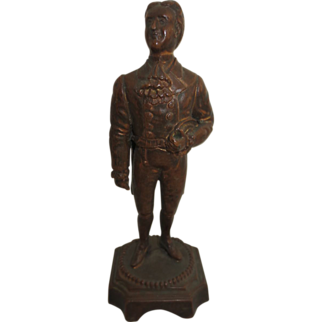 Cast Metal Souvenir Statue of James O'Neill as the Count of Monte Cristo dated 1900