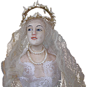 Antique boudoir doll, manequin (Lilli Baitz?)