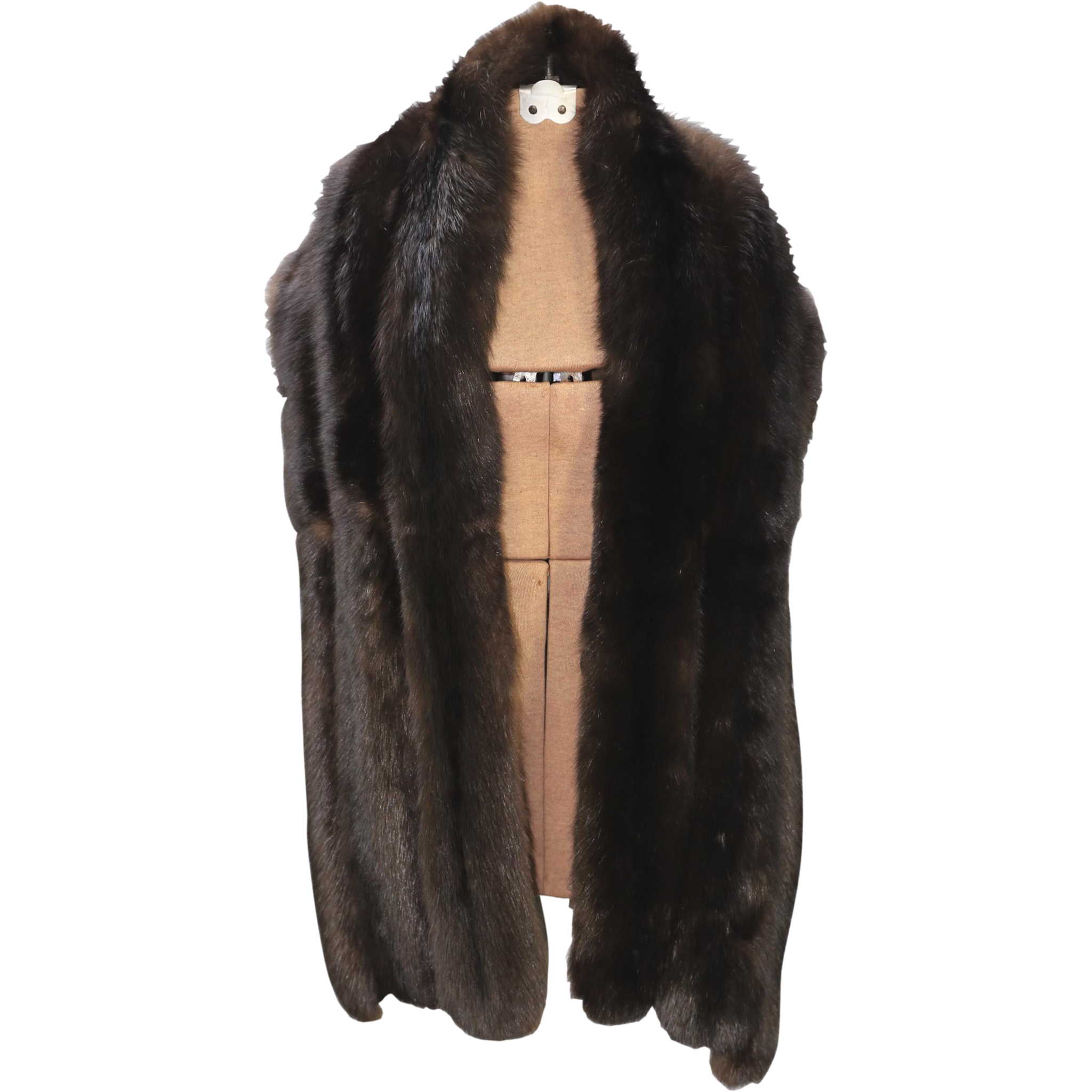 Vintage dyed russian sable straight fur stole large quality sable from houseofvintageonline on - Stoel fur ...