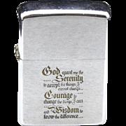 Vintage Zippo Serenity Prayer Zippo Lighter Christian