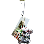 """Radko Little Gems Collection """"Mousecapade Gem"""" Mouse w/ Gift Ornament Tag"""