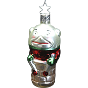 Vintage West German Humpty Dumpty Mouth-Blown & Hand-Painted Christmas Ornament