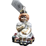 "Radko  ""Curds and Wait A Minute"" Little Miss Muffet Ornament Tag & Box"