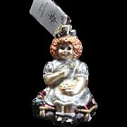"Radko  ""Curds and Wait A Minute"" Little Miss Muffet Ornament Tag & Box"