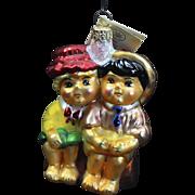 "Radko 1996 ""Sunday Brunch"" Hansel & Gretel Fairy Tale Glass Christmas Ornament"
