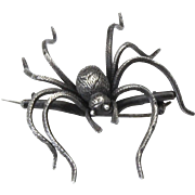 Vintage Sterling Silver Large Spider Tarantula Pin Brooch Insect Jewelry