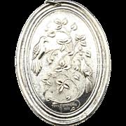 Vintage Towel Silversmiths 1972 Sterling Christmas Medallion Pendant Ornament