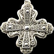Vintage Reed & Barton 1972 Sterling Silver Christmas Cross Pendant Ornament