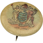 Vintage Antique Sweet Caporal Cigarette New Jersey Advertising Pin Button