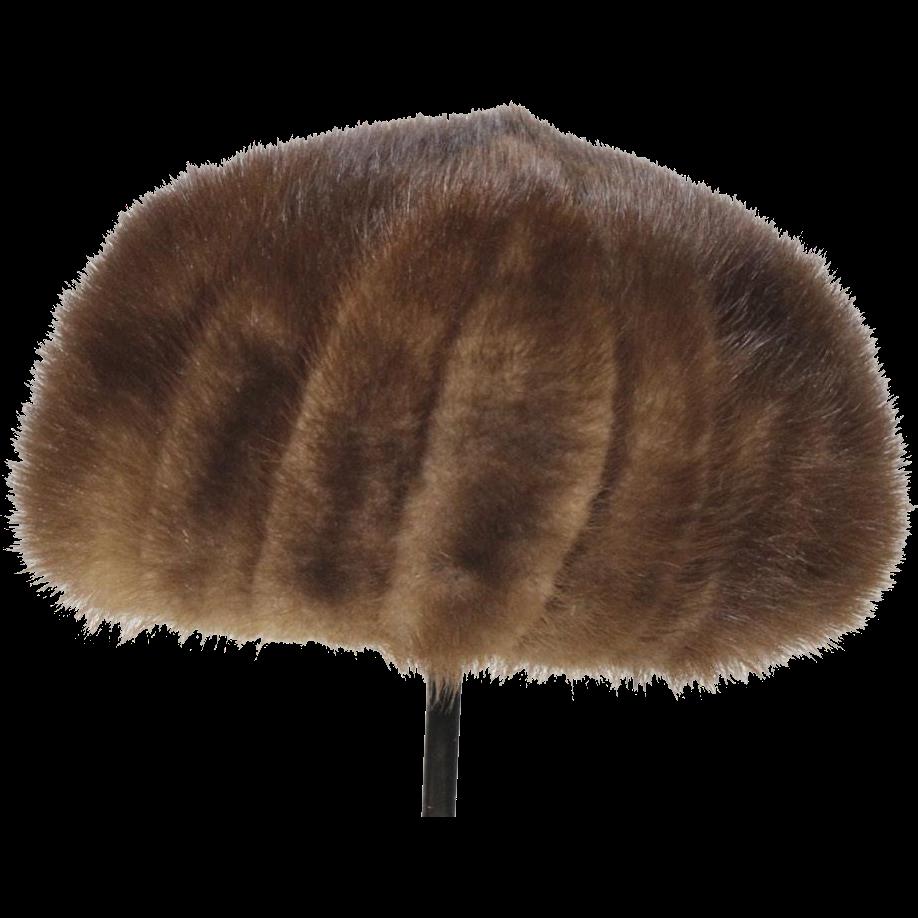 Vintage Women's Brown Mink Betmar Elegante Fur Hat Size Small