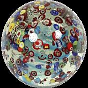 Vintage Italian Murano Glass Confetti Millefiori Glass Doorstop Paper Weight Lrg