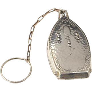 Vintage Silver Plated Victorian Chatelaine Coin Holder
