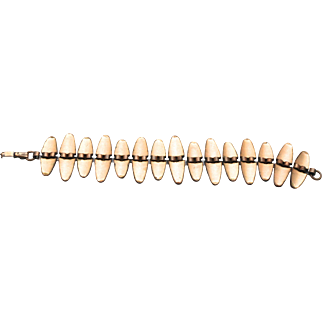 Vintage Mid Century Modern MCM Renoir Modernist Copper Link Bracelet