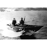 Vintage Photo Brown Water Navy Vietnam War Era Seal Assault Boat