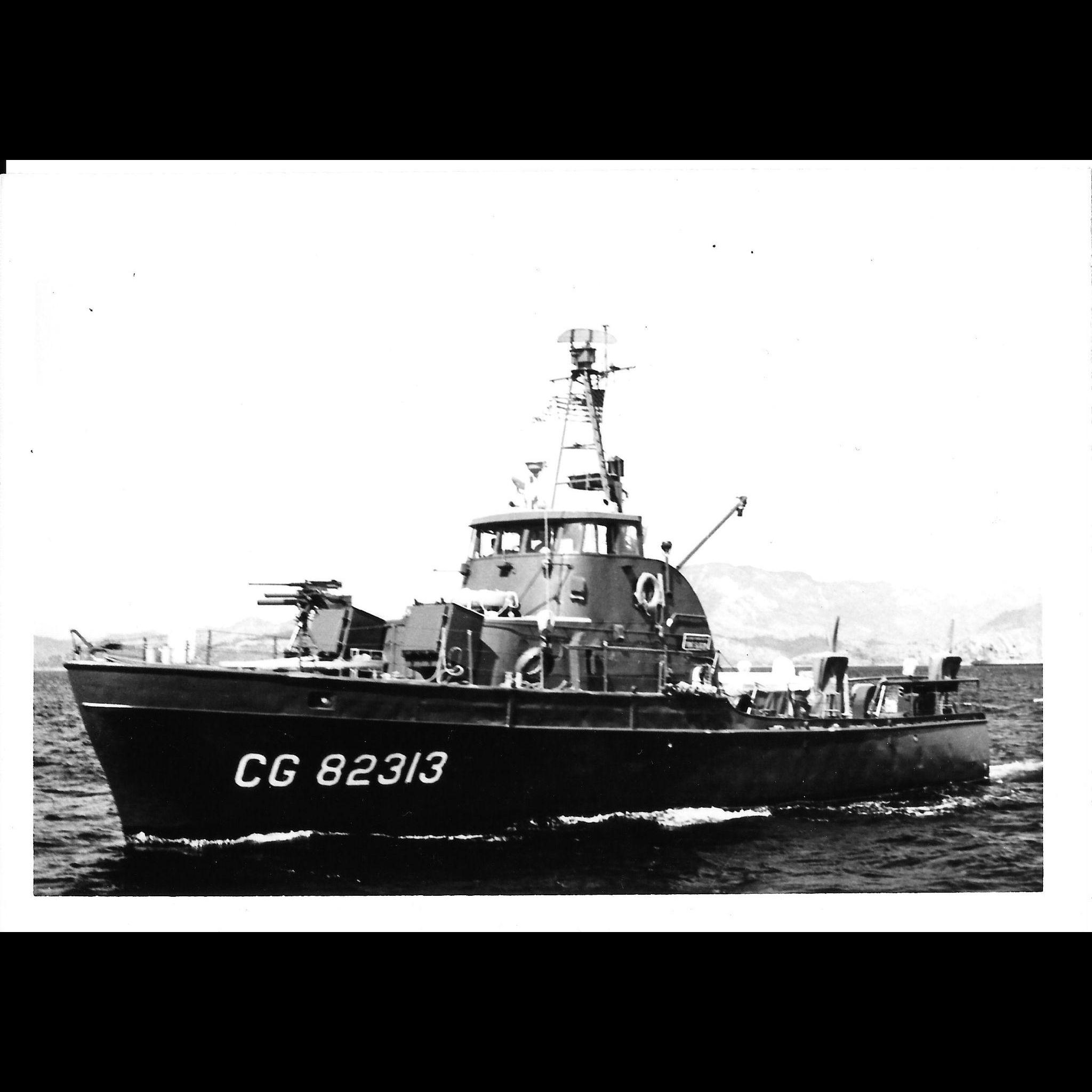 Vintage Photo Brown Water Navy Vietnam War Era CG Cutter Original Photograph