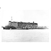 Vintage Photo Brown Water Navy Vietnam Non Self Propelled Barracks Ship (APL)