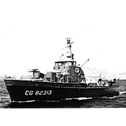 Vintage Photo Brown Water Navy Vietnam War Era Point Class Coast Guard Cutter