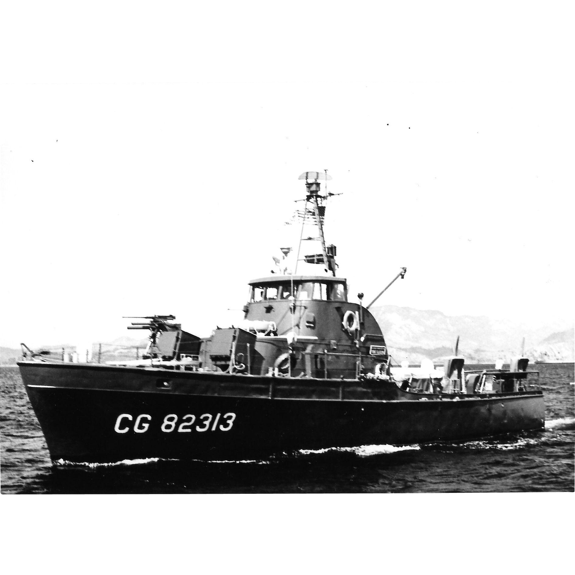 Vintage Photo Brown Water Navy Vietnam War Era Point Class Coast Guard Cutter