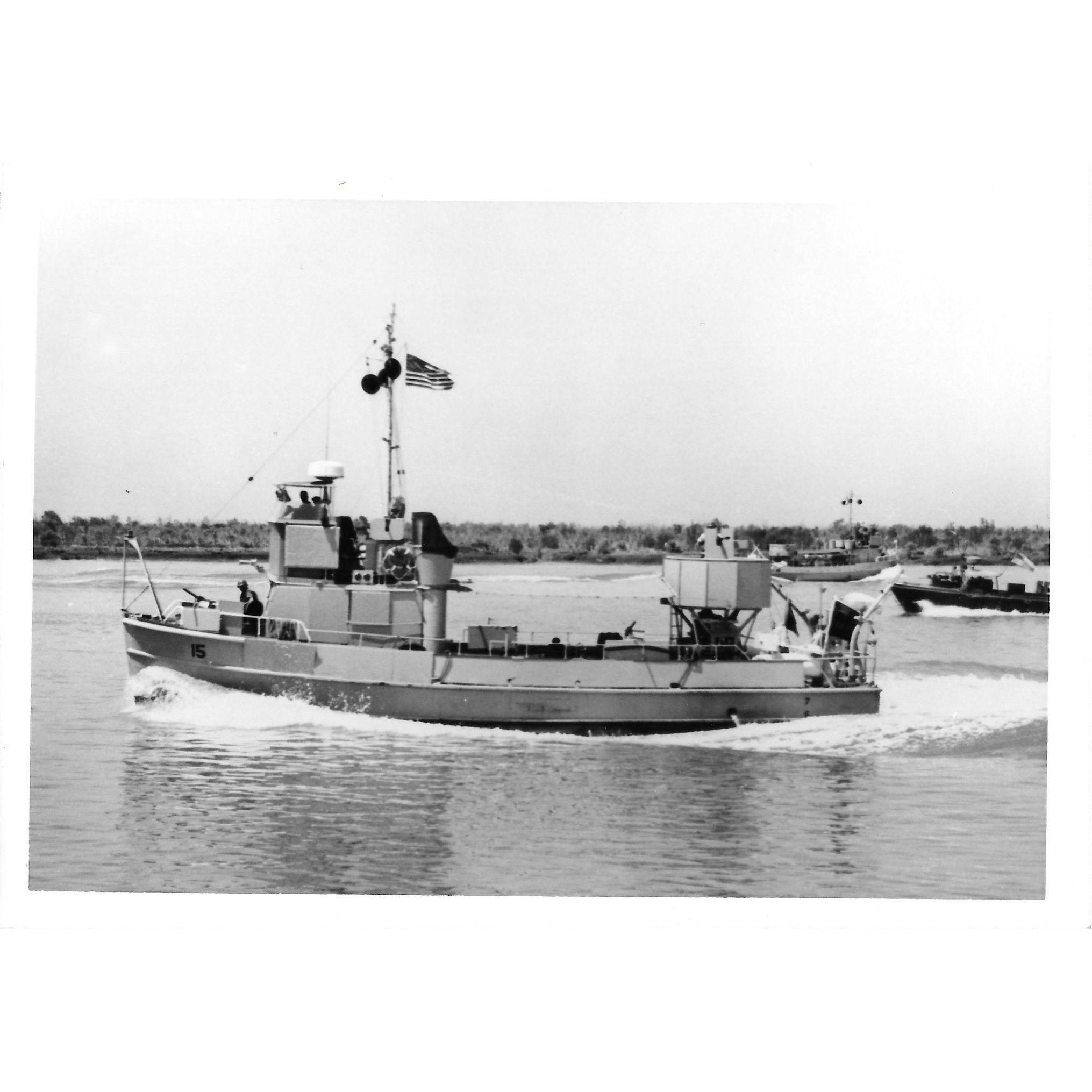 Vintage Photo Brown Water Navy Vietnam War Era Swift Boats Original Photograph