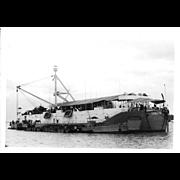 Vintage Photo Brown Water Navy Vietnam War Era Barracks Ship
