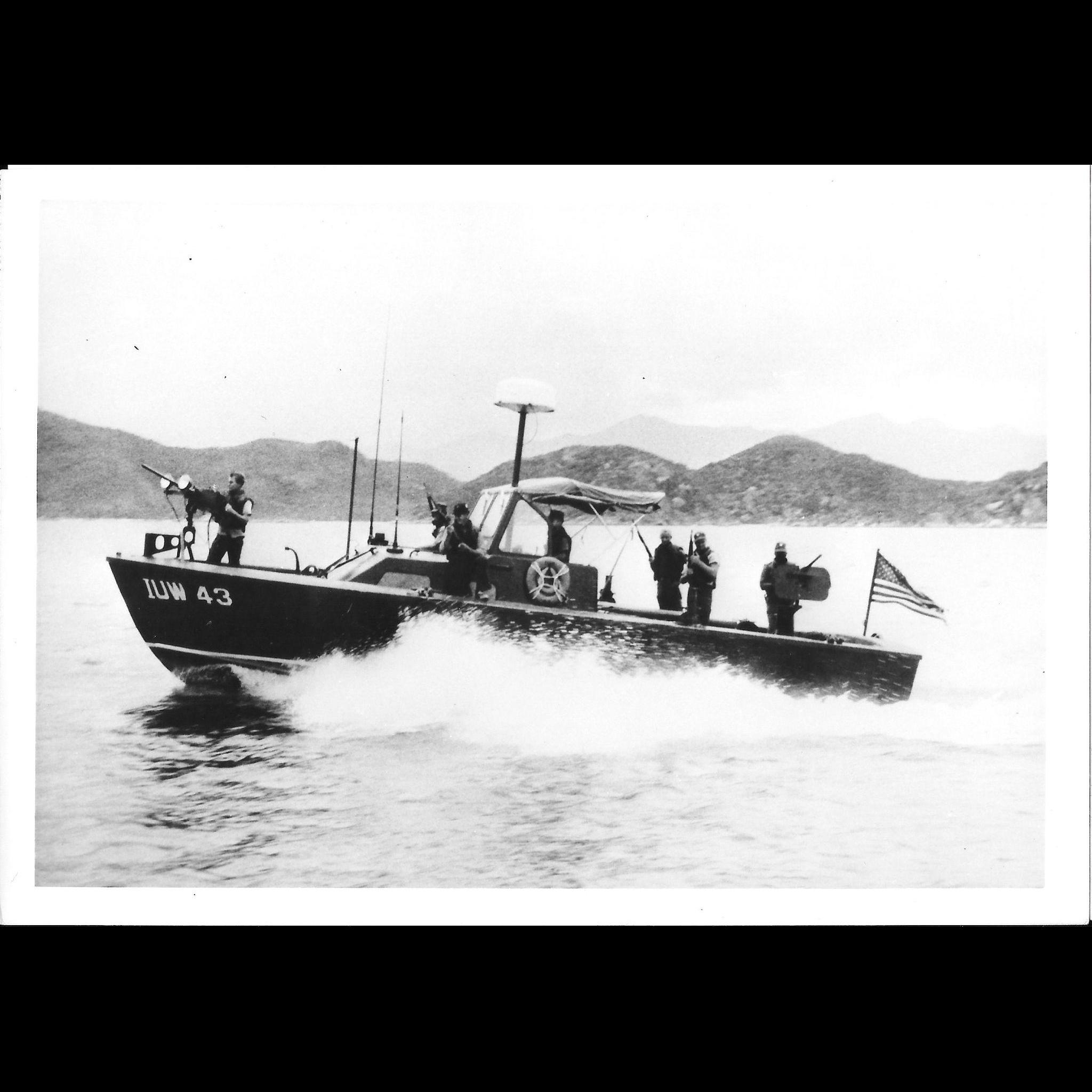 Vintage Photo Brown Water Navy Vietnam War Era Swift Boat Original Photograph