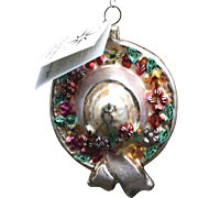 "Radko ""Bonny Spring"" Spring Easter Hat Floral Hand-Painted Ornament w/ Tag"