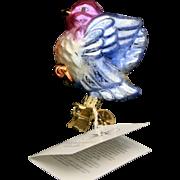 "Radko ""Sweet Tweet"" Spring Easter Bird  Hand-Painted Clip On Ornament w/ Tag"