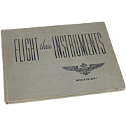 Vintage WWII 1945 Flight Thru Instruments Hardcover Book Aviation Air Corps