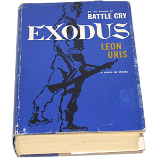 Exodus by Leon Uris a Novel of Israel Hardcover Book w/ Jacket 1st Edition 1958