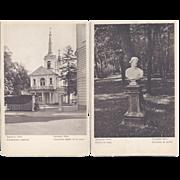 Vintage Postcard Lot of 4 Russia Tsarskoye Selo Location Landmark