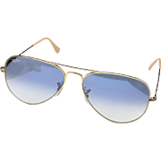 Classic Ray-Ban Aviator Sunglasses Gold Arm With Blue Tint Lens RB 3025 100% UV