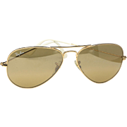 Classic Ray-Ban Aviator Sunglasses Gold Arm With Brown Tint Lens RB 3025 100% UV