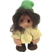 "Vintage 1982 Thomas Dam Made in Denmark 10"" Troll Doll"
