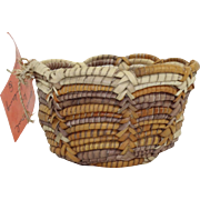 Coiled Woven Pandanus Bowl Australian Aboriginal Fibre Craft By Ellen Walmberg