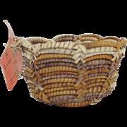 Coiled Woven Pandanus Bowl Australian Aboriginal Fibre Craft By Ellen Walmberg