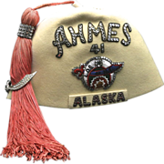 Vintage 1941 Shriner Fez Masonic Hat Fraternity Alaska Seattle