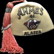 Vintage 1941 Shriner Fez Masonic Hat Fraternity Alaska Seattle