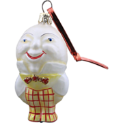 Vintage Radko 1995 Humpty Dumpty Glass Ornament Christmas Nursery Rhyme Easter